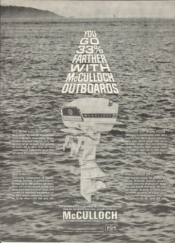 1964 McCulloch Outboard Motors Ad- The 75 HP. Model