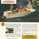 1966 Larson Boats 2 Page Color Ad- 16' Medallion 166