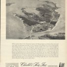 1967 Chubb & Son Insurance Ad-Great Aerial Photo of Fishing Creek Maryland