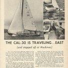 1966 Jensen Marine Corp Ad- The Cal- 30 Sailboat