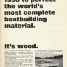 1966 U.S. Plywood Corp Ad featuring Trojan 31 Sea Breeze Yacht