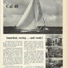1966 Jensen Marine Corp. Ad- The Cal 48 Sailboat