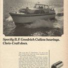 1966 B F Goodrich Bearings Ad Featuring Chris- Craft 52' Constellation Yacht