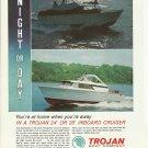 1966 Trojan Boat Company Color Ad- 24' & 26' Inboard Cruiser
