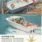 1966 Bertram Yachts 2 Pg Color Ad- 25 Mark II Models