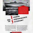 1946 Texaco Marine Ad Featuring Huckins 48 Fairform Flyer