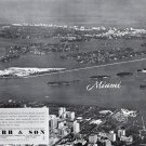 1941 Chubb & Son Insurance Ad-Great Aerial Photo of Miami Florida