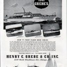 1941 Henry C Grebe & Co Yachts Ad- The Grebe 71'- 60'- 66' & 62'