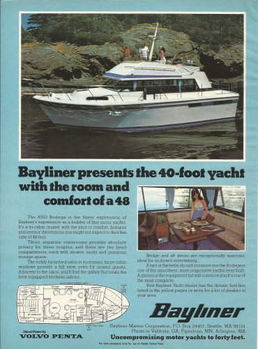 1979 Bayliner Marine Corp Color Ad- The 4050 Bodega