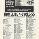 1965 Homelite 4- Cycle 55 HP. Outboard Motor Ad
