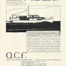 1929 American Car & Foundry Co Ad- A,C,F, 54' Cruiser