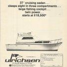 1969 Ulrichsen Yacht company Ad- The 37' Cruising Sedan
