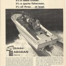 1969 Stamas Boats Inc Ad- The V-24 Aegean Deluxe