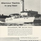 1960 Richardson Boat Company Ad- The 46' Motor Yacht & 40' Double Cabin