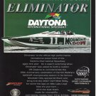 2007 Eliminator Boats Color Ad- The Mountain Dew Boat- Daytona Speedway