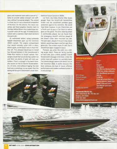 2008 Checkmate Marine Inc Convincor 2800 Review & Specs- Photos