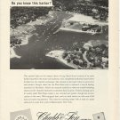 1957 Chubb Insurance Ad- Great Aerial Photo of Mamaroneck New York