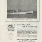 1945 Matthews Yacht Company Ad- The 50' Standard Cruiser