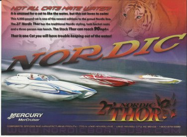 2007 Nordic Boats Color Ad- The 27' Thor