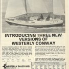 1975 Westerly Marine Construction LTD Ad- The 36' Conway Sailboat
