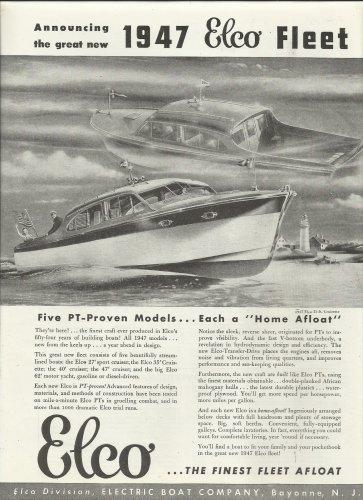 1947 Electric Boat Company Ad- The Elco 35' Cruisette