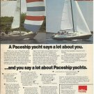 1975 AMF Paceship Yachts Color Ad- The PY 26 & PY 23