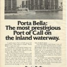 1975 Porta Bella Boca Raton Florida Ad- Nice Photo