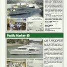 2010 Pacific Mariner 85 & Horizon 88 New Yachts Reviews & Specs- Photos