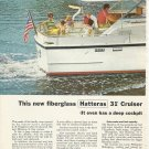 1968 Hatteras Yachts 2 Page Color Ad- The 31' Cruiser