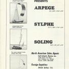 1970 Michel Dufour Sailboats S.A. Ad- Arpege- Sylphe- Soling