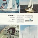1969 Pearson Yachts 2 Page Color Ad- The Pearson 43- Nice Photos