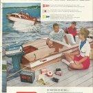 1958 Auto- Lite marine Color Ad- Trojan Boat With Evinrude Outboard