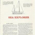 1964 Bill Garden Sailboat Sea Explorer How To Build Article & Diagrams