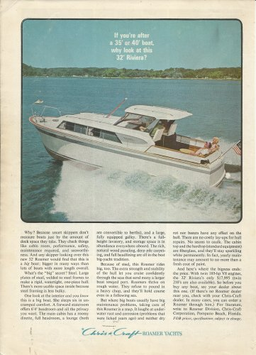 1964 Chris- Craft Boats Color Ad- The 32' Roamer