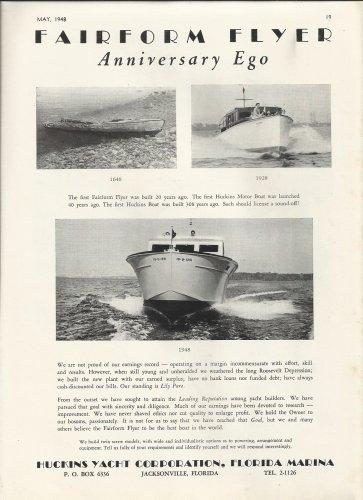 1948 Huckins yacht Corp. Ad- The Fairform Flyer