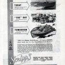 1943 WW II Scripps Marine Engines Ad- Patrol Boat