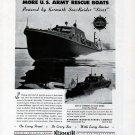 1943 WW II Kermath Marine Engines Ad- Sturgeon Bay U S Army Rescue Boats