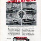 1943 WW II Texaco Marine Products Ad Featuring Warcraft