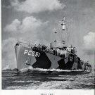 1942 WW II Leathem Smith Shipyard Ad- War Boat PC551- Great Photo