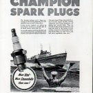1942 WW II Champion Spark Plugs Ad- U S Coast Guard Patrol Boat