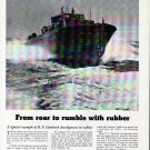 1942 WW II B F Goodrich Ad Featuring Huckins U S Navy Torpedo Boat