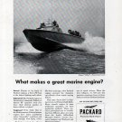 "1943 WW II Packard Marine Engines Ad- Higgins ""Hellcat"" Navy PT Boat"