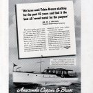1941 Anaconda Copper & Brass Ad- Vinyard Shipbuilding 47' Yacht