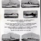 1944 WW II Luders Marine Construction Co Ad-Amry Tugs- Patrol-Q-Aircraft-Bombing-Box