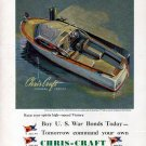 1944 Chris- Craft Boats Color Ad- The Express Cruiser