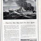 1942 WW II Elizabeth City Shipyard Ad- U S Navy Subchaser