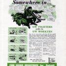 1943 WW II Gar Wood Industries Inc. Ad- War Theme