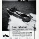 1943 WW II Harbor Boat Building Company Ad- Harbor Aircraft Rescue Boat