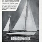"""1943 Casey Boat Building Co. Ad- Casey 45' Sailboat """"Lazy Lass II"""""""