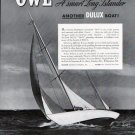 "1941 Du Pont Dulux Marine Finishes Ad- The Yacht ""Owl"""